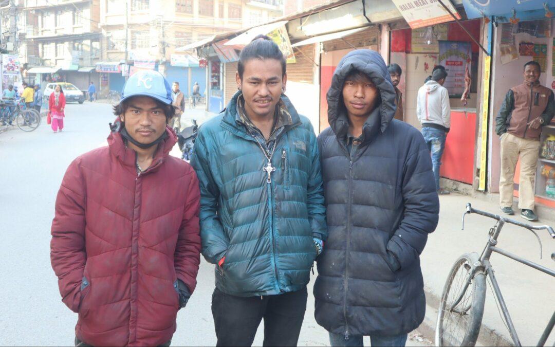 Straßenkinder Kathmandus